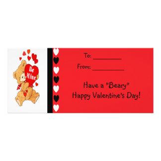 Be Mine Bear Kids Beary Happy Valentines Cards Custom Rack Cards