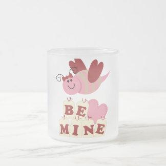 Be Mine Bee Frosted Glass Coffee Mug