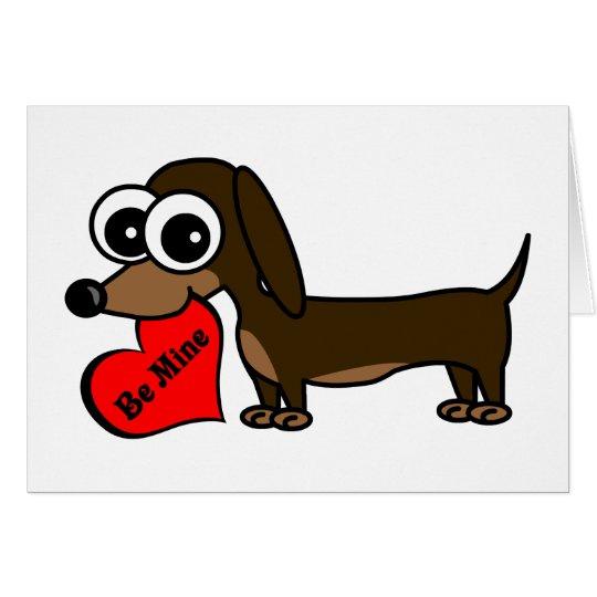 Be Mine Cute Dog Valentine's Day Card