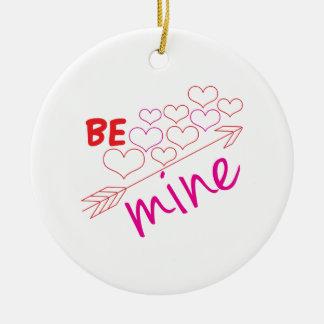 Be Mine Round Ceramic Decoration