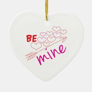 Be Mine Ceramic Heart Decoration