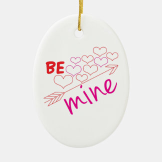 Be Mine Ceramic Oval Decoration