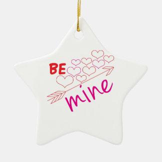 Be Mine Ceramic Star Decoration