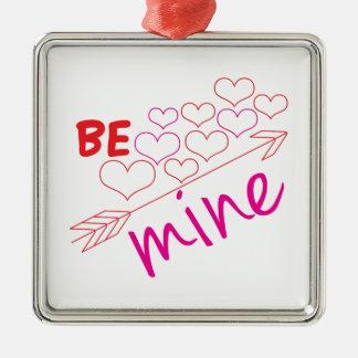 Be Mine Silver-Colored Square Decoration