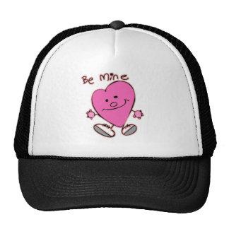 Be Mine Heart Mesh Hats