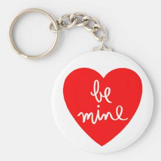Be Mine Heart Keychain