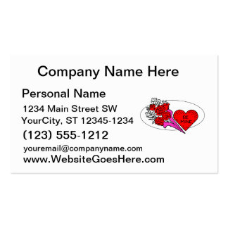 be mine heart roses graphic business card templates