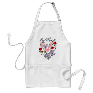 Be Mine Heart with Bow Standard Apron