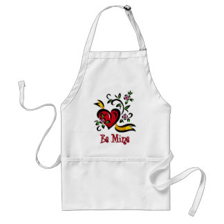 Be Mine Hearts and Flowers Valentine Gifts, Tees Standard Apron