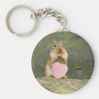 Be Mine Little Chipmunk Basic Round Button Key Ring