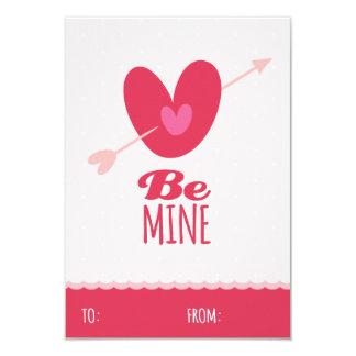 Be Mine Love Classroom School Kids Valentine's Day 9 Cm X 13 Cm Invitation Card