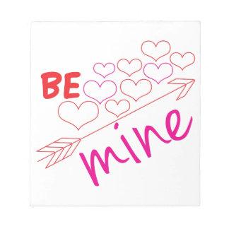Be Mine Memo Pads