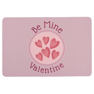 Be Mine Pink Hearts Floor Mat