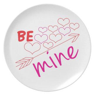 Be Mine Dinner Plate