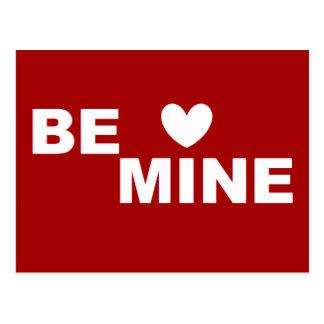 Be Mine  RED  Love & Valentines Day Postcard