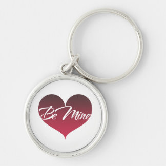 Be Mine Silver-Colored Round Key Ring