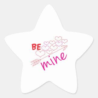 Be Mine Star Sticker