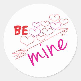 Be Mine Round Sticker