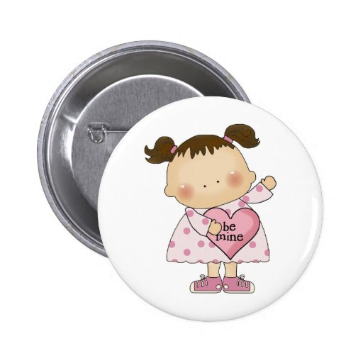 be mine valentine cutie girl tot buttons