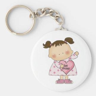be mine valentine cutie girl tot keychains