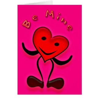 Be Mine Valentine Greeting Card