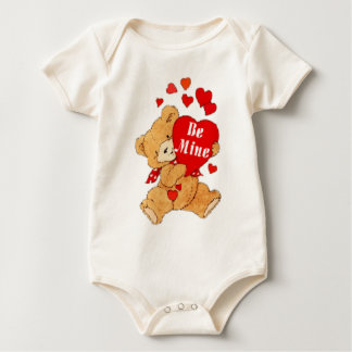 Be Mine Valentine Teddy Baby Bodysuit