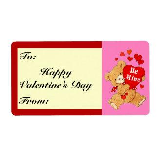 Be Mine Valentine Teddy on Pink