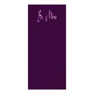 be mine valentines custom rack cards