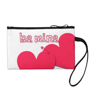 Be Mine Valentine's Day Modern Greeting Change Purse