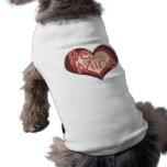 Be Mine Valentines Day Retro Heart Pet Tshirt