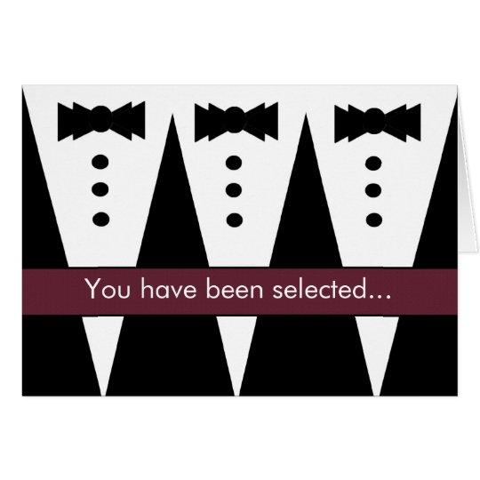 Be My Best Man Invitation FUNNY Customisable V01