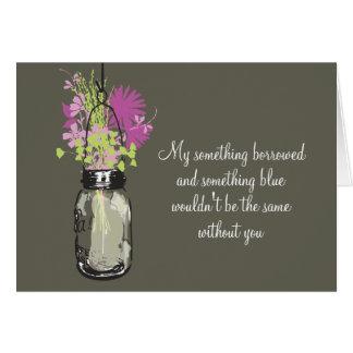 Be My Bridesmad - Mason Jar & Wildflowers Cards