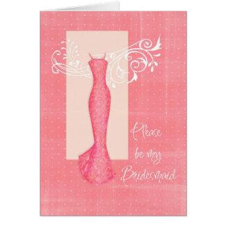 Be my Bridesmaid Card