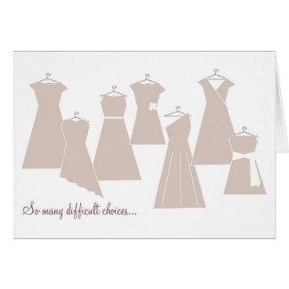 Be my Bridesmaid Card Latte Dresses