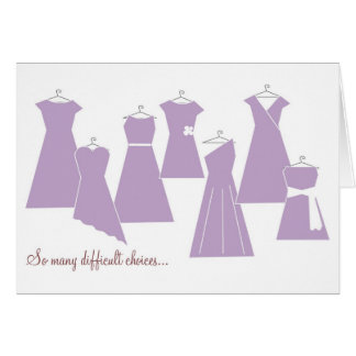 Be my Bridesmaid Card (Purple Dresses)