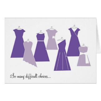 Be my Bridesmaid Card (Purple Dresses)