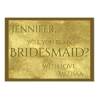 Be My Bridesmaid | Gold Glam Card