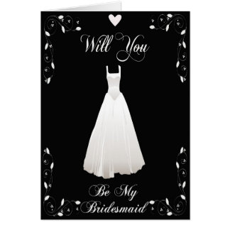 Be My Bridesmaid Invitation for Bridal Attendants Cards