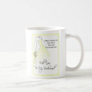 Be My Bridesmaid Invitation Mug