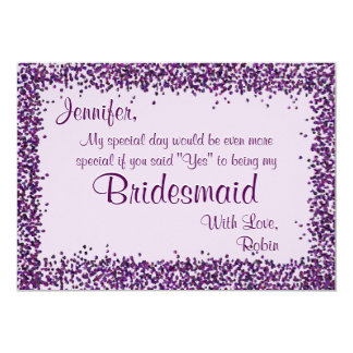 Be My Bridesmaid | Lavender Confetti Card