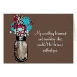 Be My Bridesmaid - Mason Jar and Wildflowers