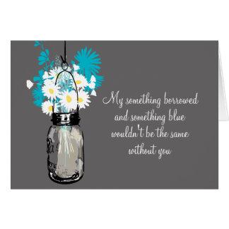 Be My Bridesmaid - Mason Jar Wildflowers Greeting Cards
