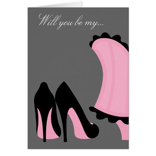 Be My Bridesmaid or Maid of Honour Card