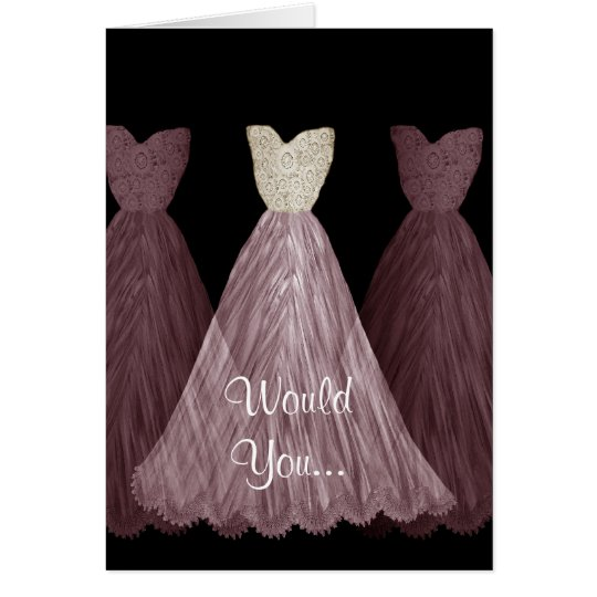 Be My Bridesmaid - PLUM Dresses Wedding Card