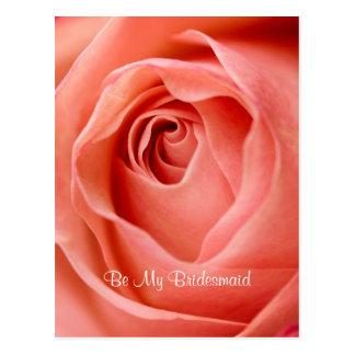 Be My Bridesmaid Postcard