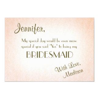 Be My Bridesmaid | Pretty Blush Card