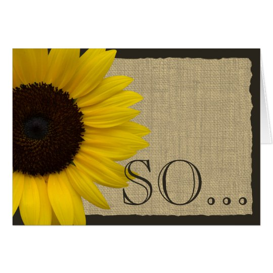 Be My Bridesmaid Rustic Sunflower Card