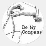 Be My Compass Classic Round Sticker