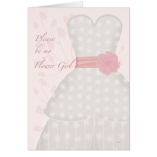 Be My Flower Girl Lace Gown Coral Card