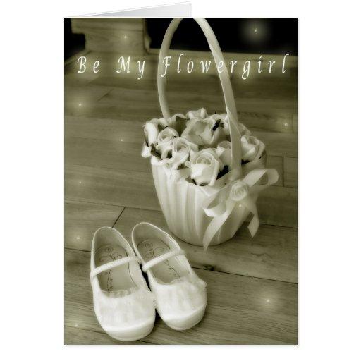 Be my flowergirl card